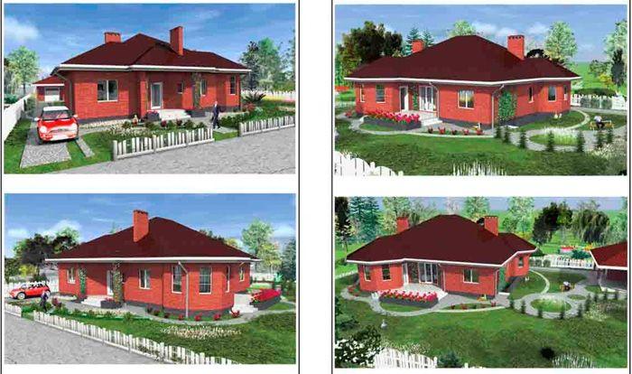 Визуализация позволяет рассмотреть дом со всех сторон
