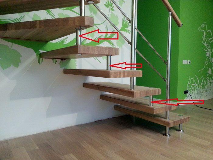 Консольная лестница на больцах