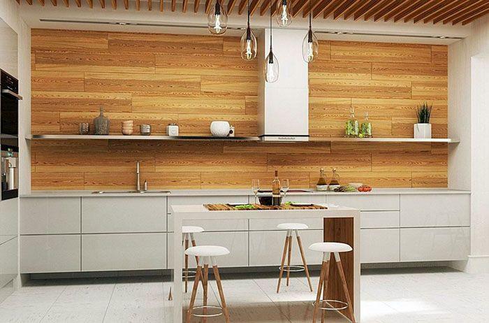 Вместо навесных ящиков, устанавливают открытые полки. Применяют мебельные гарнитуры, созданные в простых формах. Тщательно подбирают только необходимое оборудование