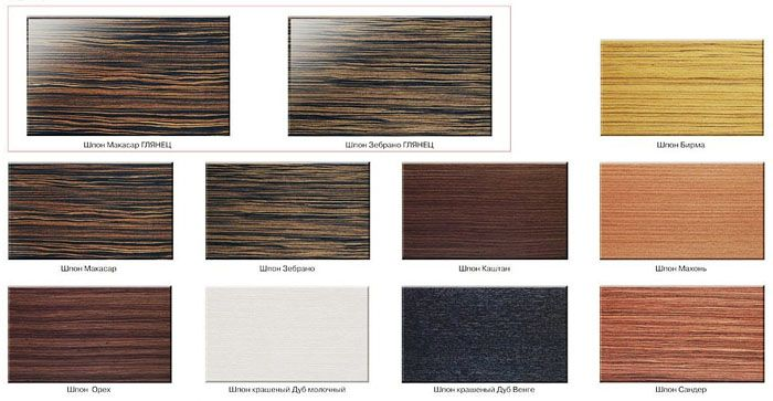 Традиционная методика – наклеивание тонкого среза из древесины ценных пород