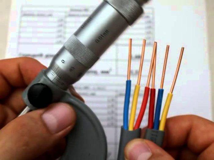 Диаметр токоведущей жилы можно измерить с помощью микрометра