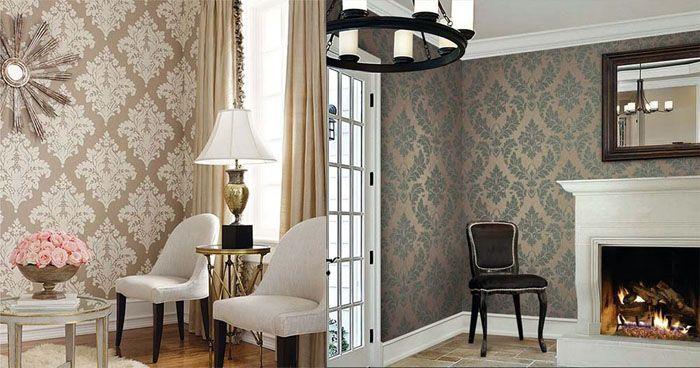Фото красивых обоев в залах квартир демонстрирует важность правильного выбора рисунка