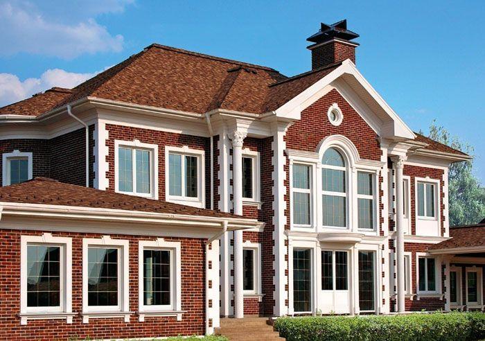 Так как материал долговечный, то отделка будет продолжать радовать ещё не одно поколение владельцев дома