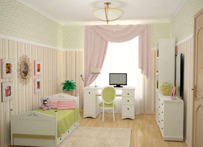 Комната для девочки-школьницыможет сохранять детские черты и одновременно выглядеть «серьёзной»