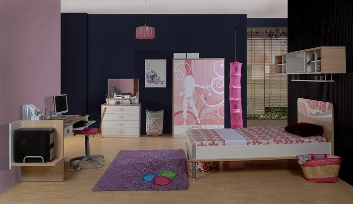 Комплекты детской мебели для девочек-подростков уже отражает современные направления в стилях