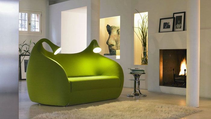 Мягкая мебель со встроенными светильниками