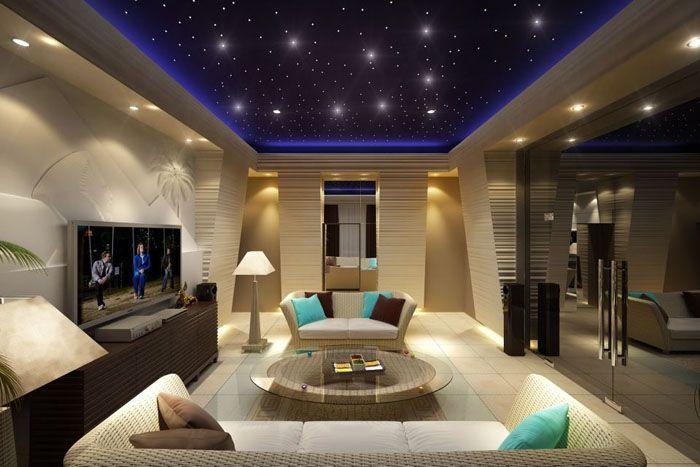 Экономичные светодиодные приборы можно использовать для имитации звёздного неба