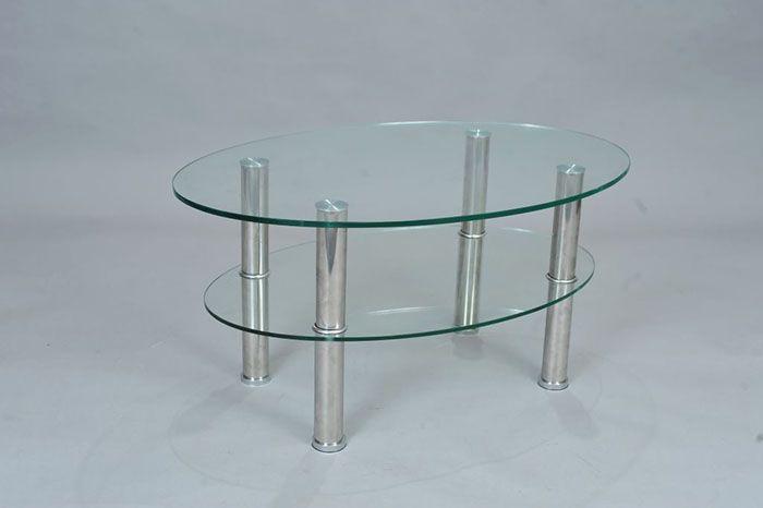Красиво смотрится стеклянная столешница и такая же полочка. Для такого изделия подойдёт триплекс (10-12 мм)