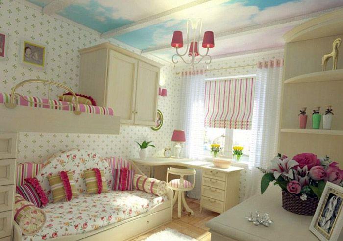 Дизайн комнаты девочки существенно отличается от мальчишеского стиля