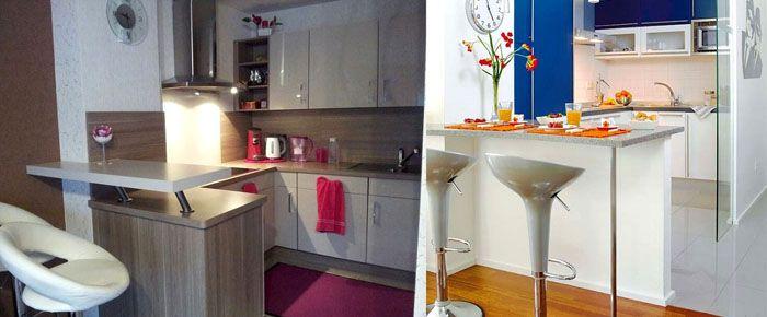 Фото барных стоек разного дизайна на кухнях маленькой площади