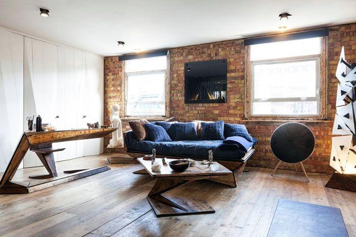 Лофт (переделка производственных помещений) – отсутствие штукатурки на кирпичной кладке, высокие потолки, простое оформление