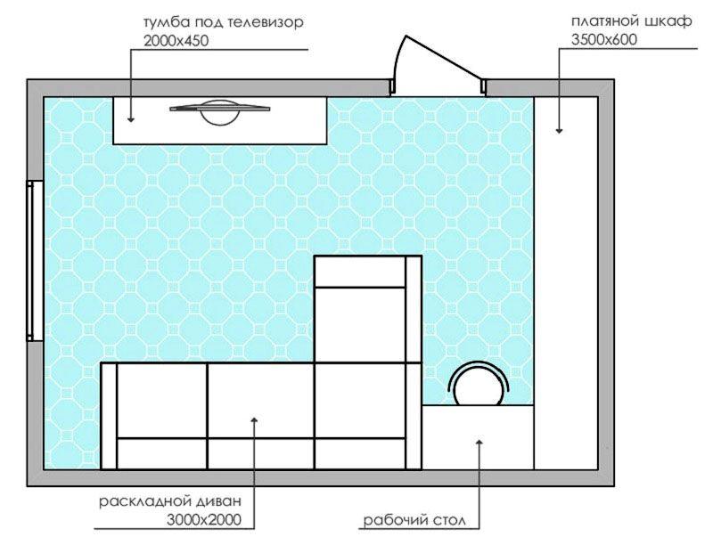 Спальное место тут получится только при выборе раскладного дивана-трансформера