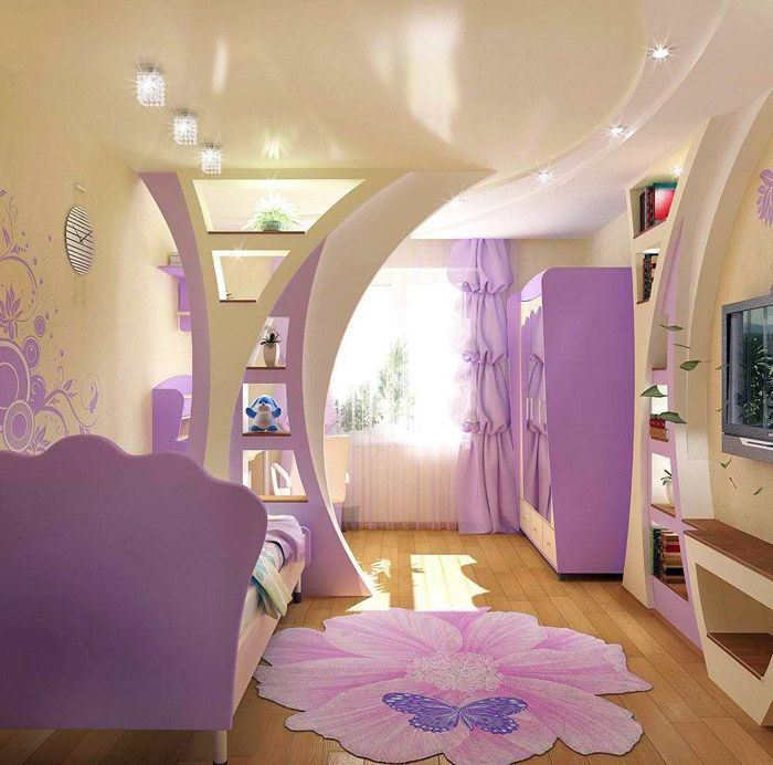 Мебель для маленькой детской комнаты для девочкиподбирается с учётом экономии свободного пространства