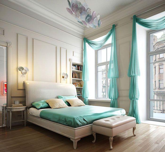 Оригинальный пошив не требует обилия цвета — настоящая оправа для спальни