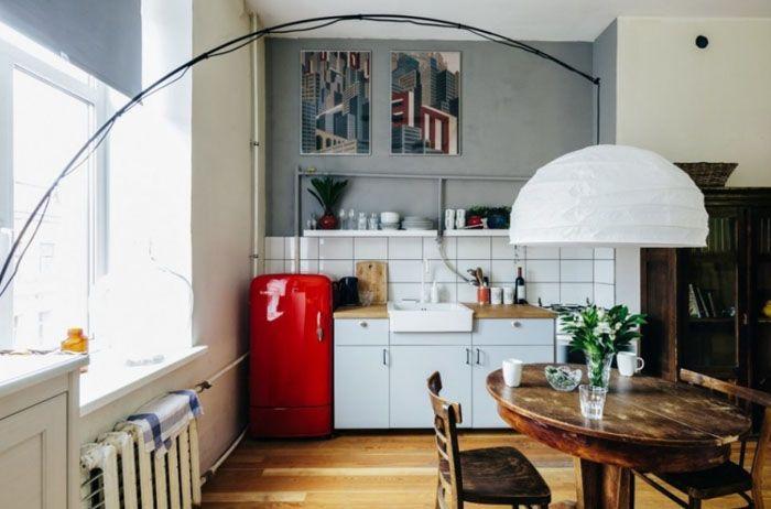 Общее пространство с гостиной и столовой