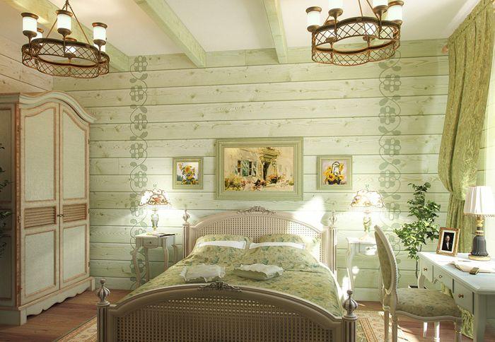 Деревянные стены легко превратить в отличный фон, просто покрасив их в подходящий цвет