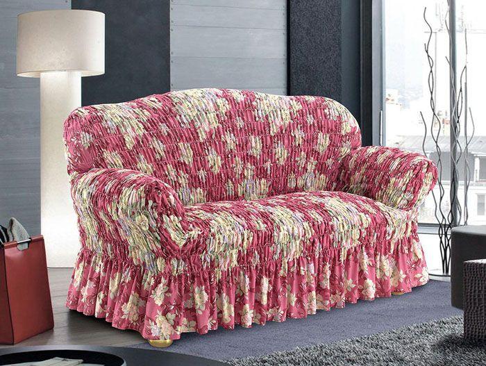 Ткань прекрасно тянется и удачно облегает мебель