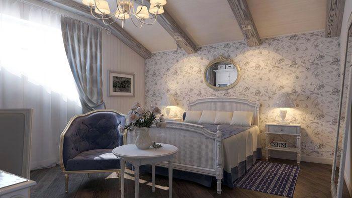 Если потолочные балки находятся высоко, то это полноценная просторная комната