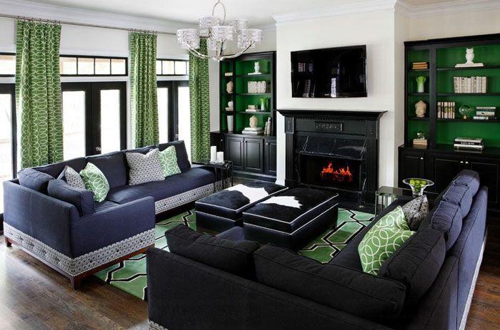 Тёмные оттенки дизайна зала в квартире – роскошь, богатство