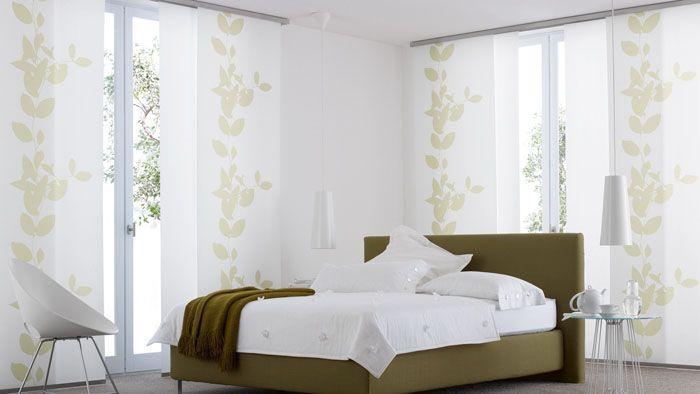 Японские шторки созданы для декора больших окон
