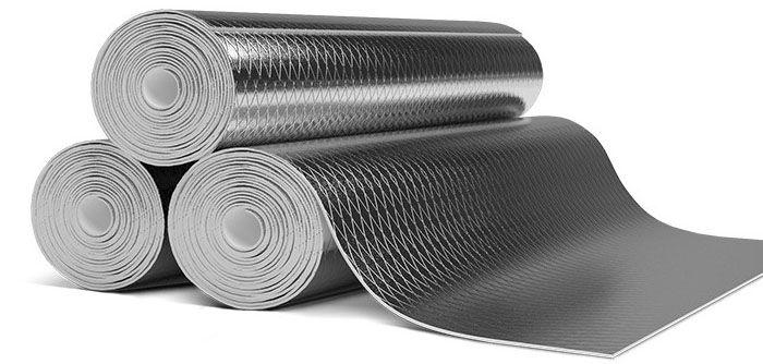 Звукоизол металлизированный - рулонный, двухслойный