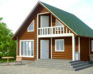 Сборный дом из дерева