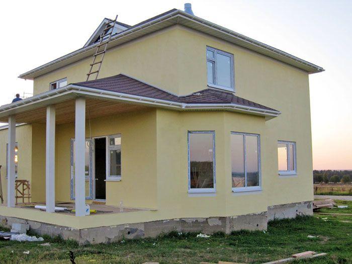 Двухэтажный дом из SIP-панелей, проект К2-215 «Экодомстр»