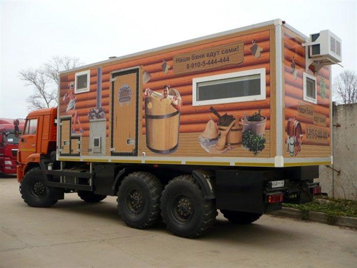Мобильная баня на базе автомобиля «КАМАЗ»