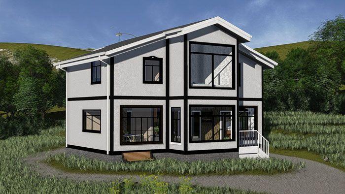 Проект дома серии «Кёльн» общей площадью 157 м2