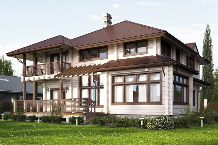 Дом из клееного бруса «Neoclassical Style 250»