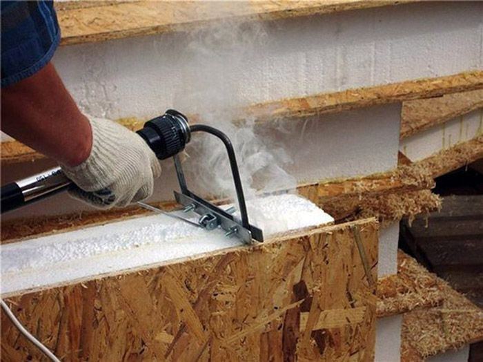 Терморезак необходим при изготовлении СИП-панелей своими руками