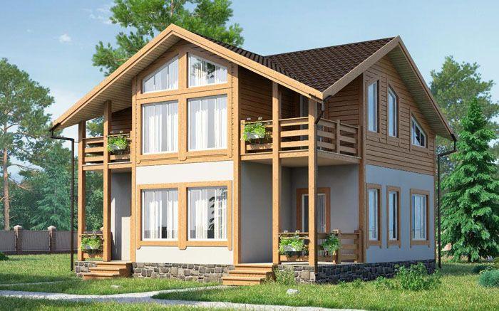 Проект каркасного дома «АМ-223»