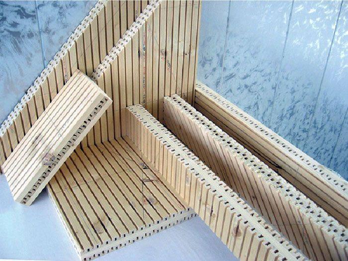 Внешний вид деревянных панелей, изготовленных по технологии «Унипанель»