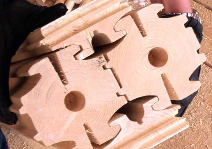 Внешний вид бруса, изготавливаемого по технологии «NATURI»