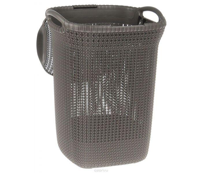Корзина для белья фирмы «Curver» (Польша), модель «Knit» объёмом 57 литров
