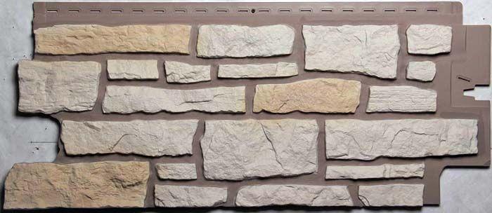 Стеновая панель под камень, которую можно использовать при отделке фронтона