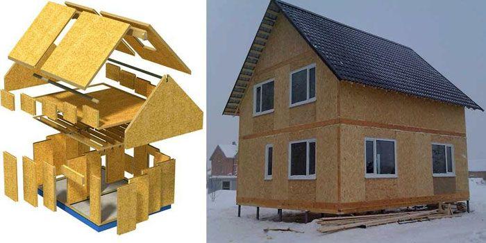 Изготовление всех элементов конструкции дома в заводских условиях позволяет сократить сроки выполнения работ на строительной площадке, что напоминает сборку конструктора «Лего» по составленной схеме