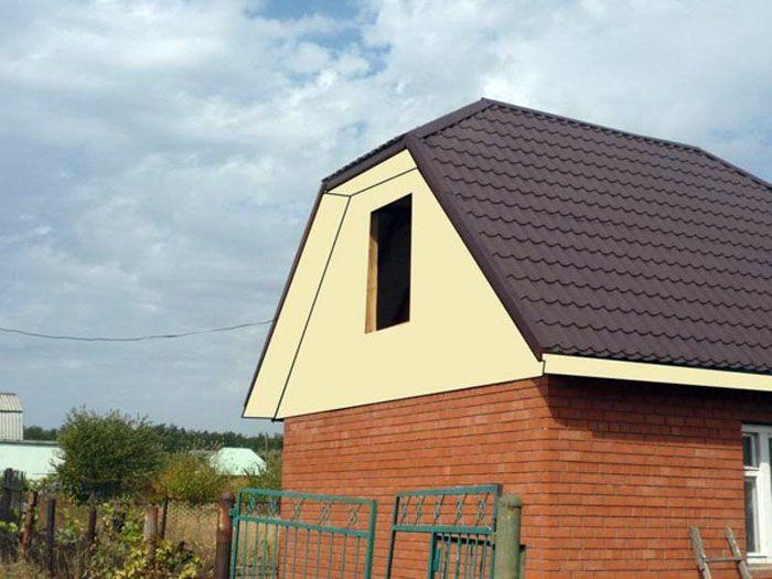 Трапециевидная форма используется для увеличения полезного объёма чердачного помещения при использовании его как жилое