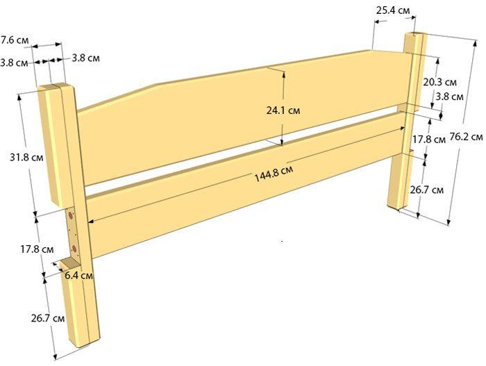 Вариант эскиза для изготовления спинки деревянной кровати
