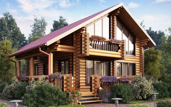 Двухэтажный дом «Арбаж» предполагает в своей конструкции наличие второго света в холле здания