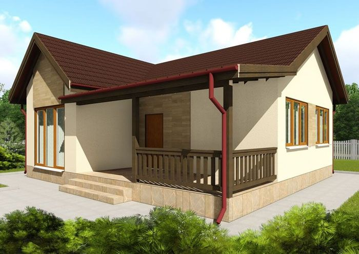 Проект каркасного дома из СИП-панелей «C1701 Вапнярка» общей площадью 72,38 м2