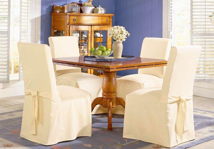 Чехлы на стулья со спинкой