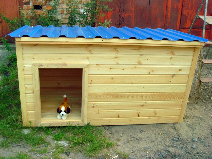 Домик для собаки,сделанный своими руками из дерева