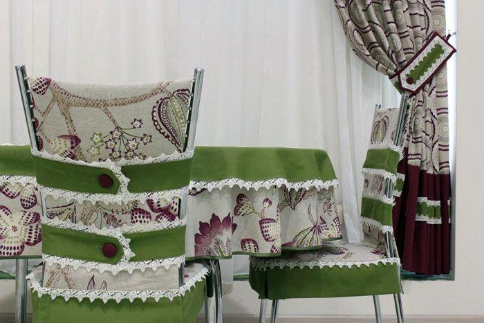 Текстиль может быть выполнен в одном стиле для всего помещения
