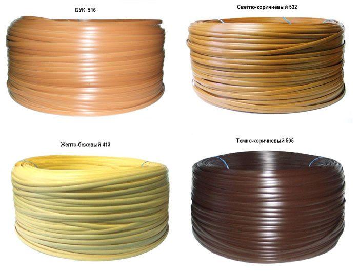 Нить может быть разной по ширине и диаметру, иметь различную текстуру