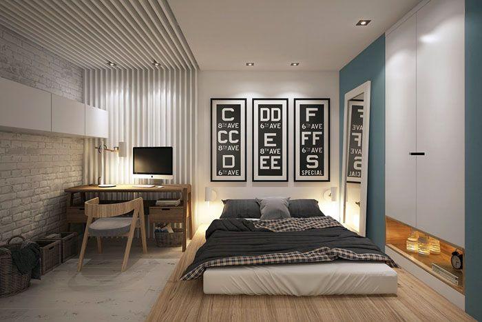 Можно даже выделить с помощью комбинаций разные функциональные зоны или же подчеркнуть спальное место