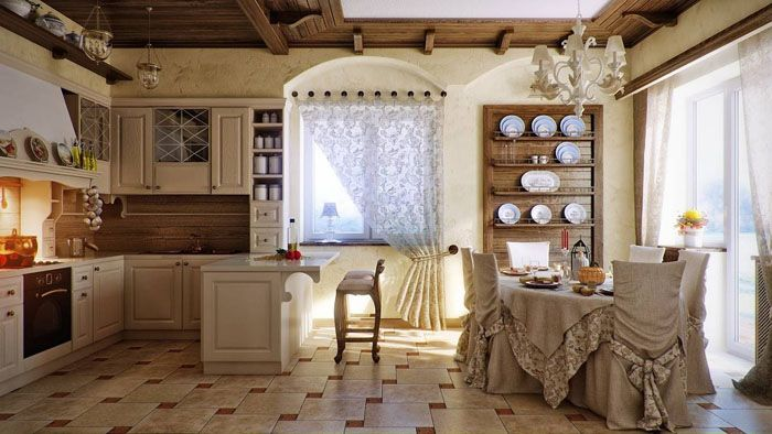 Текстиль нейтрального цвета хорошо выполняет свою функцию в декоре