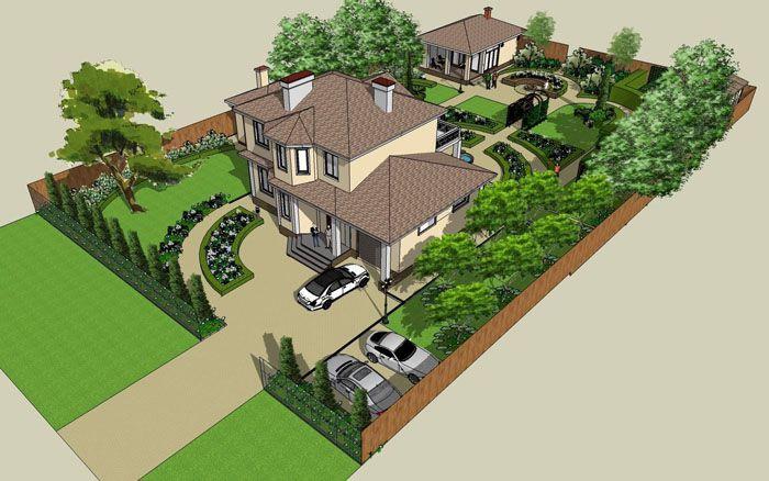 Баня может вписываться в общий архитектурный ансамбль или быть выполнена в другом, не нарушающем гармонию стиле