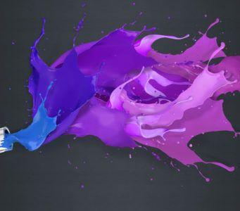 Как получить фиолетовый цвет при смешивании красок