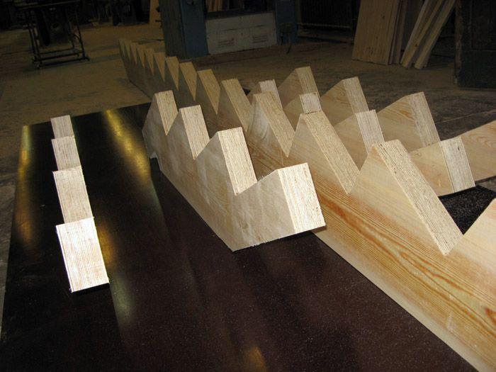 Использование LVL-бруса при изготовлении лестничных маршей